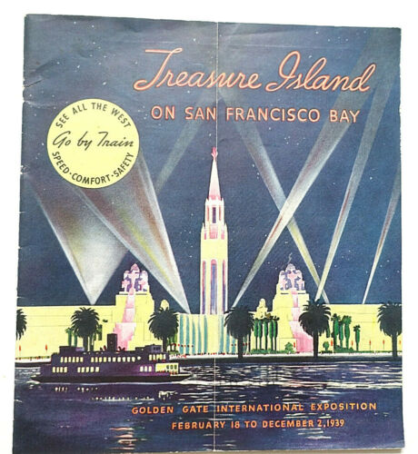 1939 THE MILWAUKEE ROAD RAILROAD BROCHURE to San Francisco World
