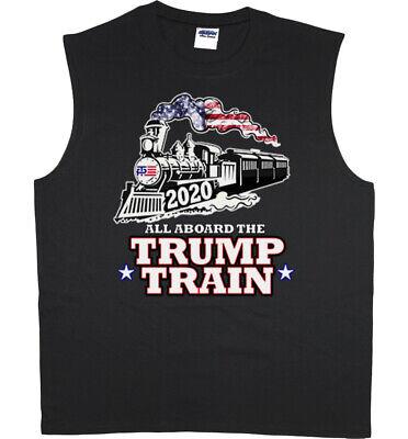 Donald Trump Train 2020 Mens Sleeveless T-shirt Muscle Tee Graphic Tees Clothing Train Mens Tee