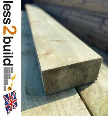 PACK 10 NEW NATURAL COLOUR TREATED TIMBER GARDEN RAILWAY SLEEPERS 200X100 2.4M