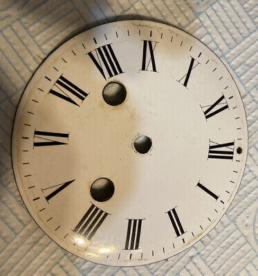 Antique French Mantle Clock Dial Hundred Millimetres Diameter