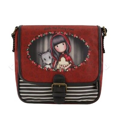 Santoro London Handbag Purse Gorjuss Coated Saddle Bag Little Red Riding Hood](Red Riding Hood Purse)