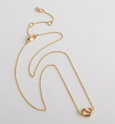 AUTHENTIC KATE SPADE LOVES ME KNOT Gold Mini Pendant Necklace-$58-W/CARD!