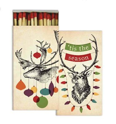HomArt - Match Box Set of 2 - Decorated Stags