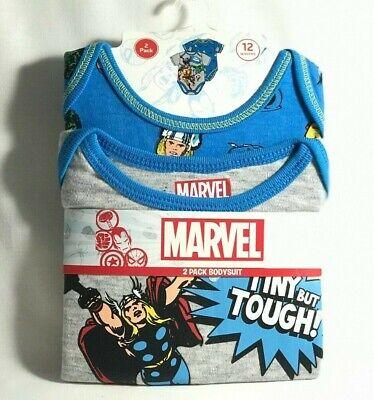 NWT Bentex Baby Boy Marvel Avengers One Piece Bodysuit Creeper 2-Pk Size Varies - Baby Avengers