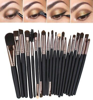 20 Pennelli e Matite Professionali Make-up x Fondotinta Sfumature Contorno Occhi