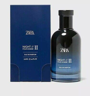 ZARA NIGHT II 2 POUR HOMME FOR MEN Eau De Parfum EDP Fragrance Perfume 100ml NEW