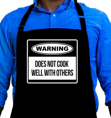 Warning Cooking BBQ Funny Apron Gift for Husband, Dad, or Grandpa by -