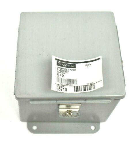 "Hoffman A606chnf Hinged Junction Box Enclosure 6"" X 6"" X 4"""