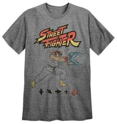 Capcom Men's Street Fighter Tee T-Shirt Video Game Series REX-STREETFIGHTER
