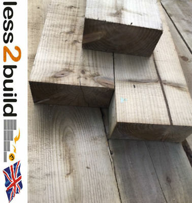NATURAL COLOUR TREATED Crossing Timbers Cart shed Sleepers 200X100 4.8M