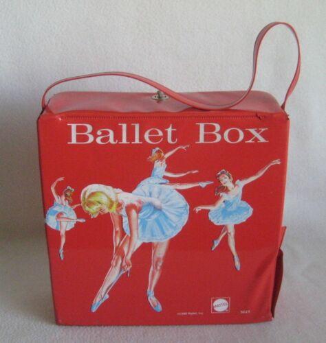 Vintage 1966 Mattel Red Ballet Box Case Dance Ballerina Case Tote