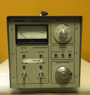Eni Lpg-6 Solid Sate 13.56 Mhz 120 240 Vac Rf Generator Conrtoller. Parts