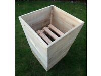 Rustic Tapered Double Use Planter, Large, Choice of Stains Available.