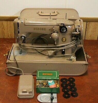 Heavy Duty Zig Zag SINGER 306K Sewing Machine 8 Cams Light Foot Pedal Case