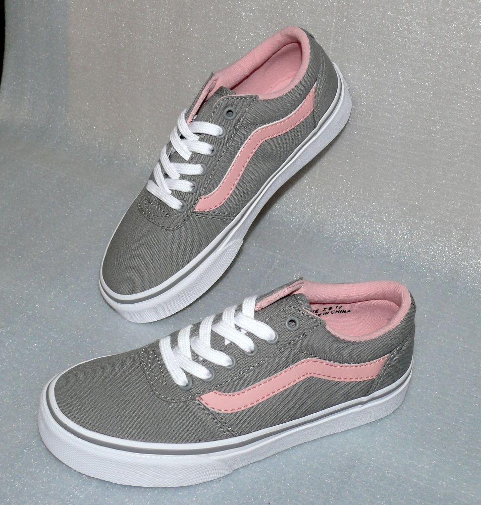 Vans Maddie Z'S Canvas Kinder Schuhe Freizeit Sneaker EU 31 UK13 Gray Pink White