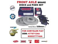 DISCS 350mm Vented for INFINITI FX 37 50 30d AWD 2008-/>on REAR AXLE BRAKE PADS