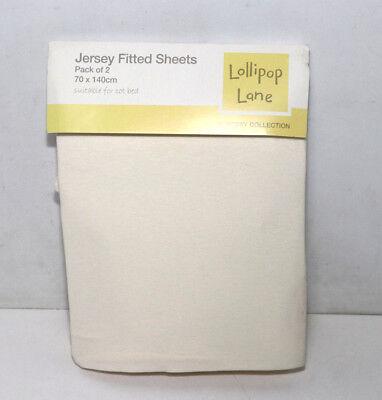 Jersey Spannbettlaken für Kinderbett 70 x 140 cm - creme (Lollipop Lane)