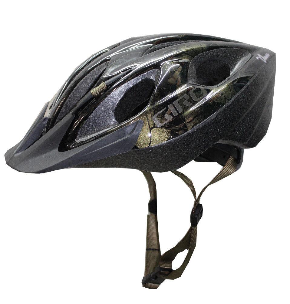 Giro Bicycle Helmet Venus 50-57cm Black/Gold Flowers Ladies