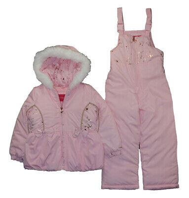 London Fog Girls Light Pink 2pc Snowsuit Size 2T 3T 4T 4 5/6