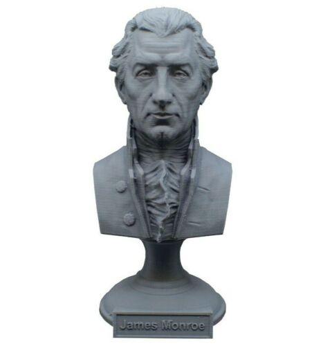 James Monroe 5 inch 3D Printed Bust USA President #5 Art FREE SHIPPING