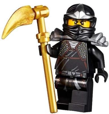 Lego Ninjago Cole ZX Minifigure with gold weapon and armor complete rare ninja