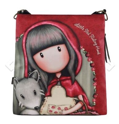 Santoro London Handbag Purse Gorjuss Large Hobo Bag The Little Red Riding Hood](Red Riding Hood Purse)