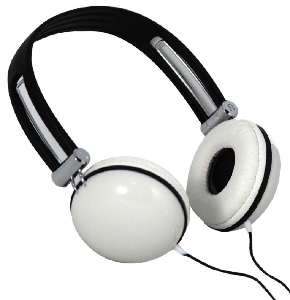 Moki White Dome Headphones - Earphones Ear/head Phones Computer Games/music