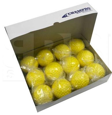 """Champro Pitching Machine Balls Soft Dimpled Baseball 9"""" Yell"""