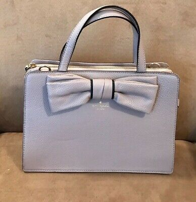 """PRE-OWNED KATE SPADE """"BOW"""" LEATHER SATCHEL/CROSSBODY BAG."""
