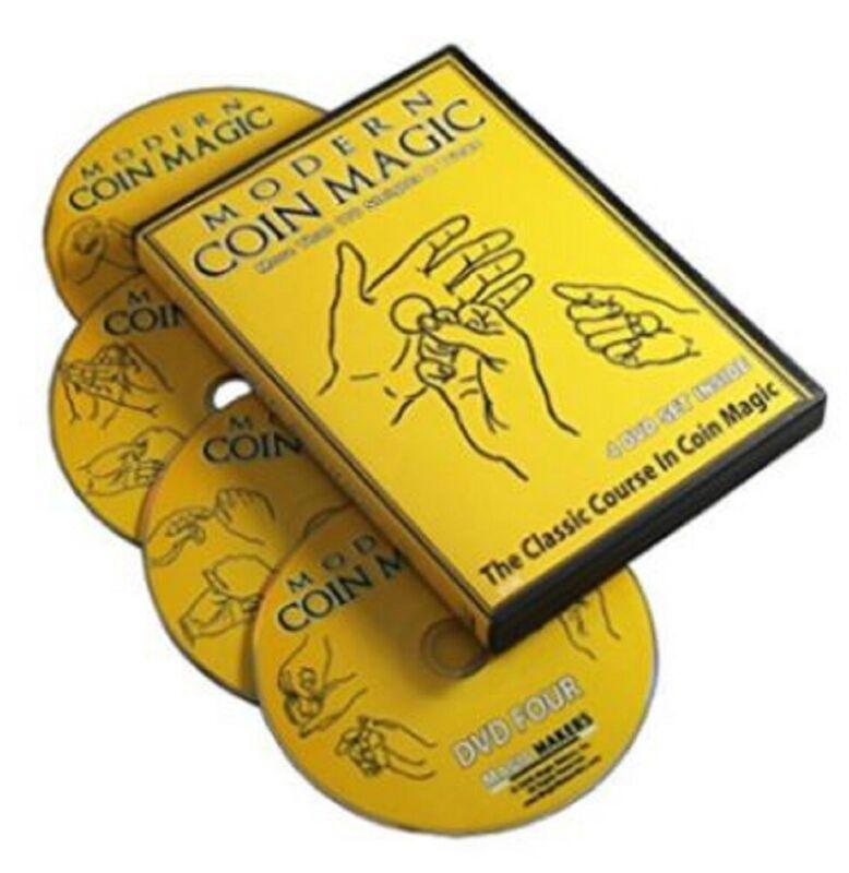 Magic Maker Modern Coin Magic 4 DVD Set More Than 170 Sleights Tricks