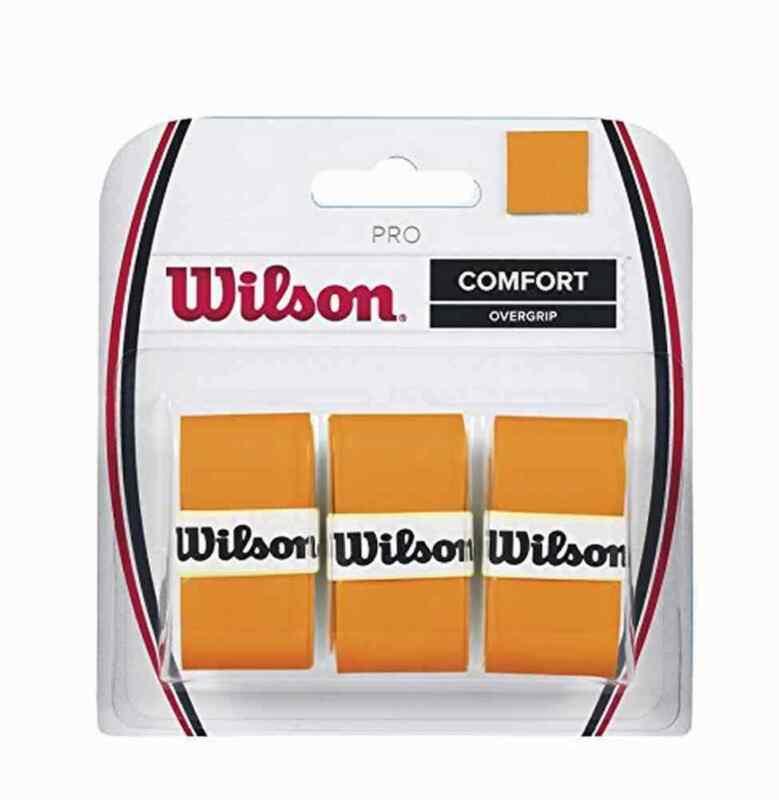 Wilson Tennis Racquet Racket Pro Comfort Overgrip Blade Stretch Felt (Orange)