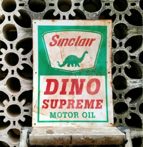 OLD VINTAGE SINCLAIR OIL TIN SIGN
