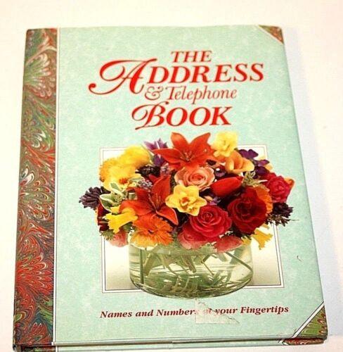 """Smithmark Address & Telephone Blank 9"""" x 6 7/8"""" Hardcover With Dust Jacket"""