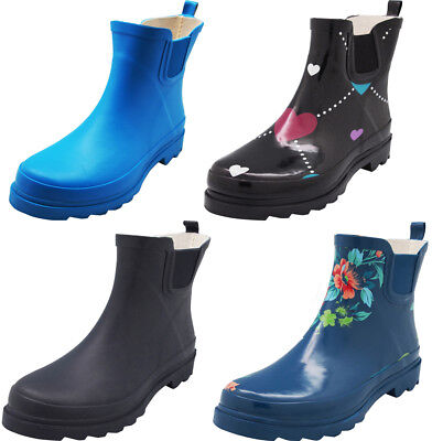 New Norty Women Low Ankle High Rain Boots Rubber Snow Rainbo