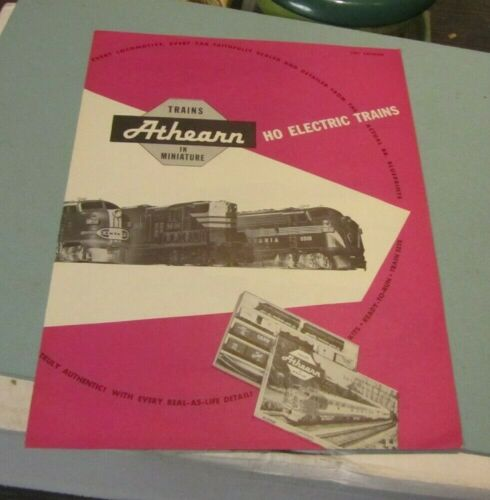 1957 Athearn HO Scale Electric Train Catalog Conductor Mountaineer Mainliner