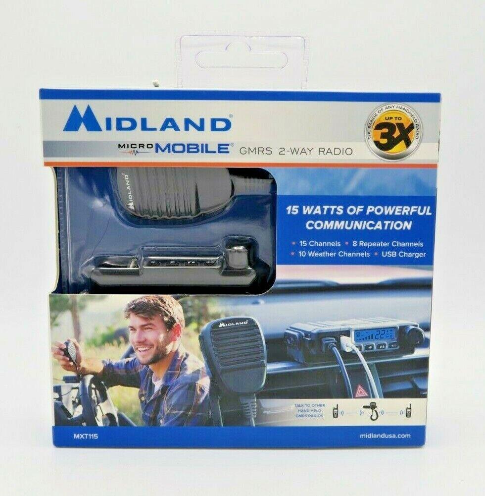 OpenBox Midland Consumer Radio MXT115 Micro Mobile 15W Gmrs