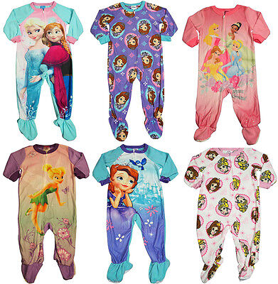 Infant Girls Sleeper (Baby Infant Toddler Girls Disney Princess Footed One Piece Blanket Sleeper PJ )