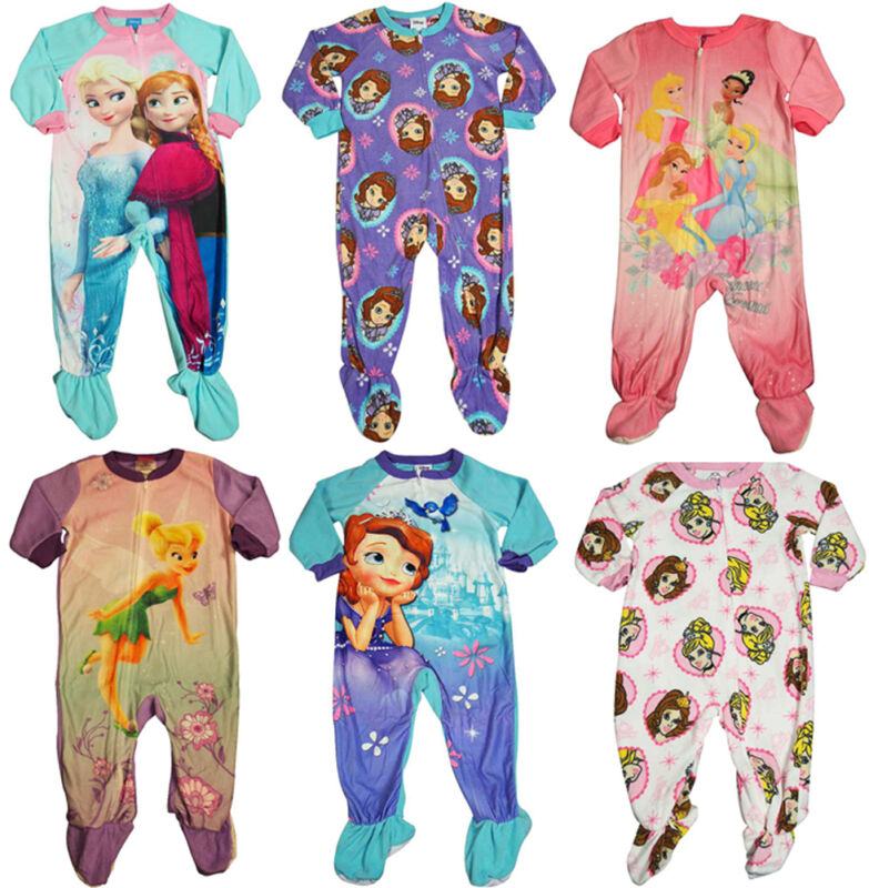 Baby Infant Toddler Girls Disney Princess Footed One Piece Blanket Sleeper PJ
