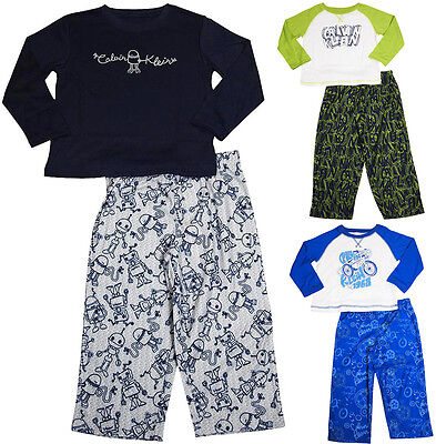 Calvin Klein Toddler Boys Pajamas 2 Piece Flame Resistant Polyester Pajama - Toddler Boys Pjs