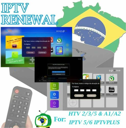 IPTV Brazil Renewal,16 Digit code for A2 A3 IPTV 5 6 8 HTV 3 5 6 Send By E-mail