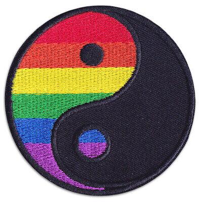 Yin & Yang Symbol Zeichen Yoga LGBTQ Ying Aufnäher und Patch Bügelbild Aufbügler