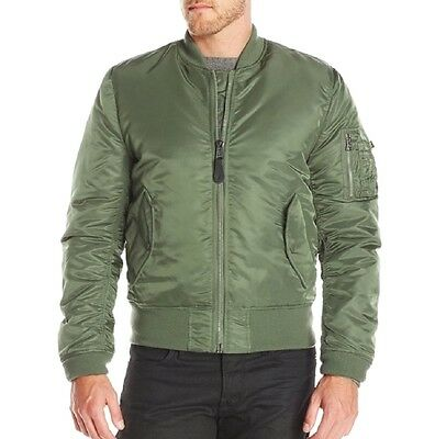 - MA-1 Army Green Orange Resistant Reversible Men Air Flight Pilot Bomber Jacket