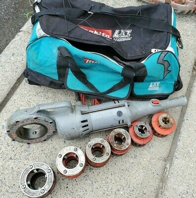Ridgid 700 Pipe Threader W Set Of 12r Dies Makita Contractors Bag On Wheels