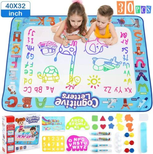 Extra Large Water Drawing Doodle Mat Mess Free Girls Boys Age 2 3 4 5+ Toy Gifts
