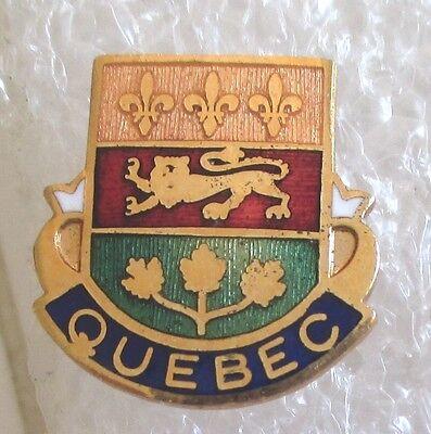Vintage Quebec, Canada Coat of Arms Travel Souvenir Collector Pin