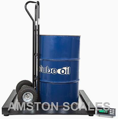 1000 X .2 Lb Digital Drum Scale 31x32 Inch Heavy Duty Steel Dual Ramp Wheelchair