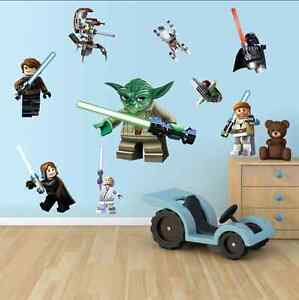 LEGO Star Wars 3D Decal WALL STICKER Perfect for Boy Room UK
