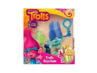 Dreamworks TROLLS Clip-me-anywhere keychain - BRAND NEW, OFFICIALLY LICENSED
