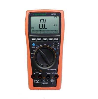 Vc99 5999 Auto Range Digital Multimeter Tester Buzz Temp R C Buzz Diode Temp
