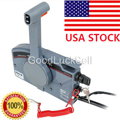For Yamaha Outboard Remote Control Box 10Pin Cable Right 703 Side PUSH Throttle
